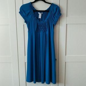 ❄️3/$25  Empire Waist Blue Swing Dress